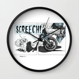 Screech! Wall Clock