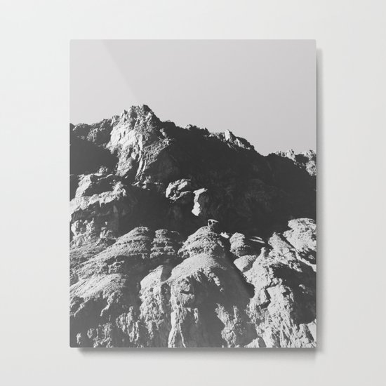 Black & White Mountains Metal Print
