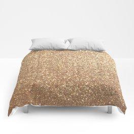 Copper Rose Gold Metallic Glitter Comforters