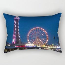 Blackpool Beach Lights at Night Rectangular Pillow
