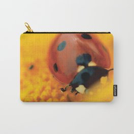 Ladybug, macro, still life, fine art, print, interior design, high quality photo, decor Carry-All Pouch