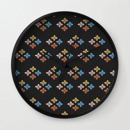 Las Flores 02 (Patterns Please) Wall Clock