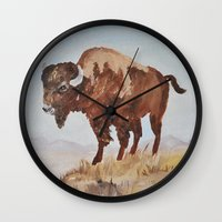 buffalo Wall Clocks featuring Buffalo by TheWildPlum