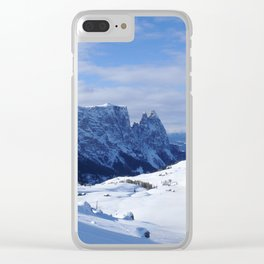 Mountains in South Tyrol Italy Schlern and Alpe di Siusi Clear iPhone Case