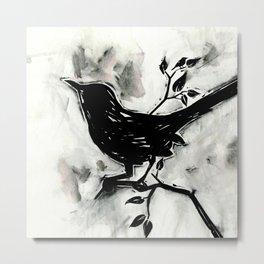 Black Bird 1 by Kathy Morton Stanion Metal Print