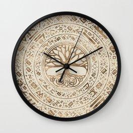 Tree of life -Yggdrasil Runic Pattern Wall Clock