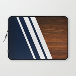 Wooden Navy Laptop Sleeve