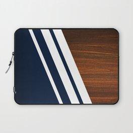 Wooden Navy Laptop Sleeve