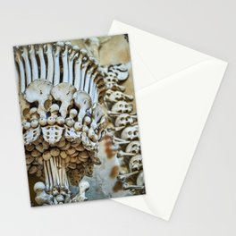 Sedlec Ossuary Chalice Photo Art, Skull Bone Church Stationery Cards