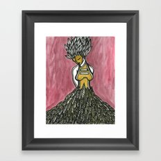 Feathered Fashion Framed Art Print