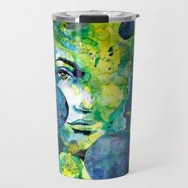 Evelin Green (Set) by carographic watercolor portrait Travel Mug
