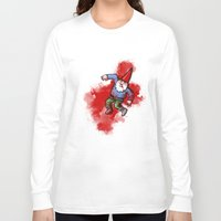 gnome Long Sleeve T-shirts featuring Crushed Gnome by Stephan Brusche