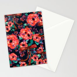 Watercolor Rustic  floral vintage Stationery Cards