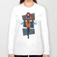 x men Long Sleeve T-shirts featuring Jean Grey / X-Men by Lauren C Skinner