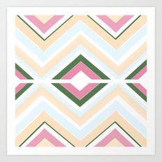 Mod stripes in Sorbet Art Print
