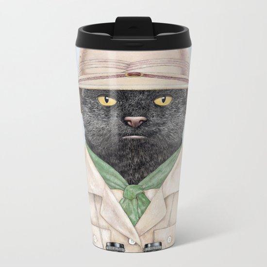 Safari Cat Metal Travel Mug