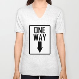 One way sign Unisex V-Neck