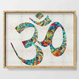 Colorful Om Symbol - Sharon Cummings Serving Tray