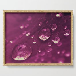 Purple Big Water Perals Serving Tray