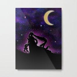Moonlight Guardian Metal Print