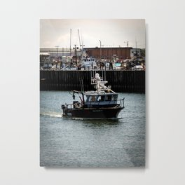 Boat Returning to Port Metal Print