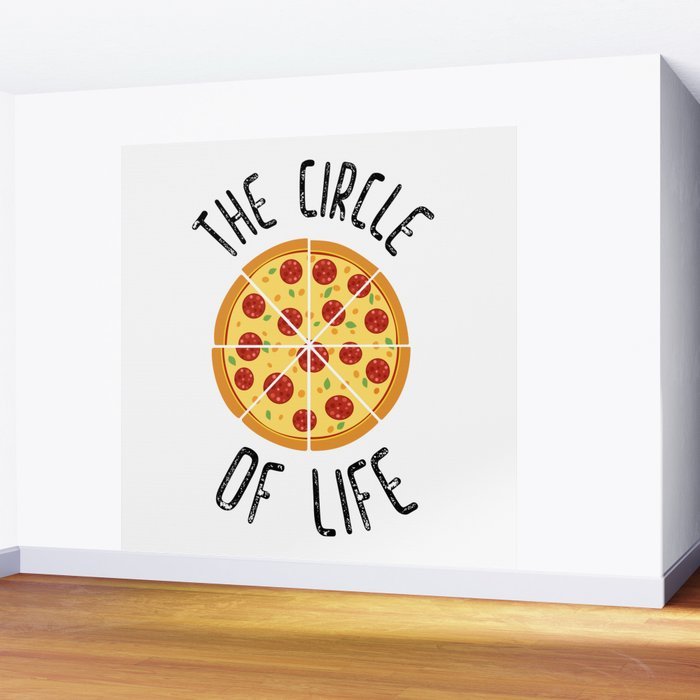 The Circle Of Life Funny Quote Wall Mural By Envyart Society6