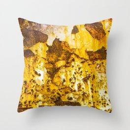 Rusting metal Throw Pillow