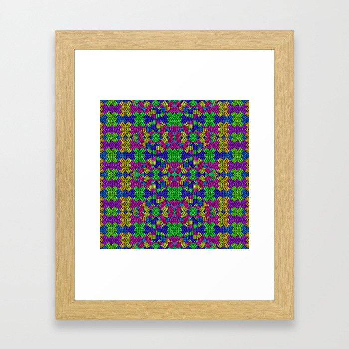 Ethnic Modern Geometric Pattern Framed Art Print