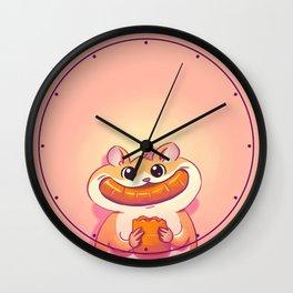 Hamster Happiness Wall Clock