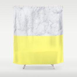 Lemon Marble Shower Curtain