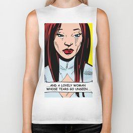 ...And a Lovely Woman Whose Tears Go Unseen... Biker Tank