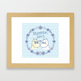 Moomin Love Sky Blue Framed Art Print