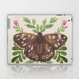 Speckled Wood Butterfly Laptop & iPad Skin