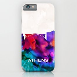 Athens Skyline iPhone Case
