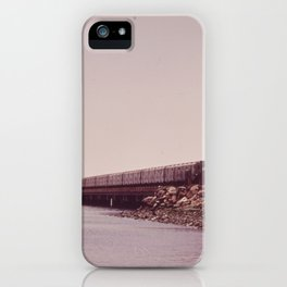 NEW YORK SUBWAY IS ABOVE GROUND WHEN IT CROSSES JAMAICA BAY AREA iPhone Case