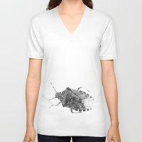 beetle V-neck T-shirts featuring beetle by Falko Follert Art-FF77