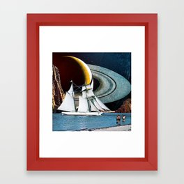 Orbital Sailing Framed Art Print