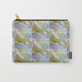 Pink, Yellow ,White Wedding Roses  Pattern Carry-All Pouch