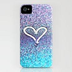 glitter heart- photograph of glitter  iPhone (4, 4s) Slim Case