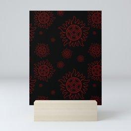 Anti Possession Pattern Red Glow Mini Art Print