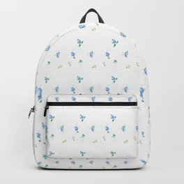 Blue and Yellow Flowers Backpack