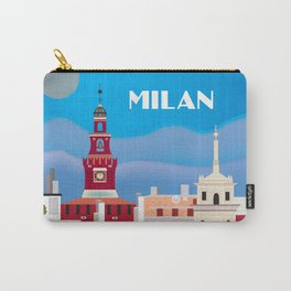 Milan, Italy - Skyline Illustration by Loose Petals Carry-All Pouch