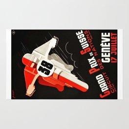 Grand Prix Suisse, Motorcycle Poster, Motorcycle Race, Vintage Poster Rug