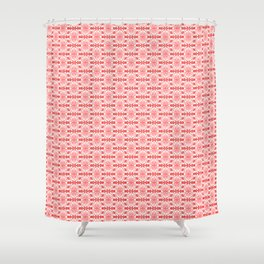 Peppermint Winter Red and White with Pink Accents High Contrast Spirit Organic Shower Curtain