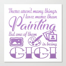 Painting Gigi Canvas Print
