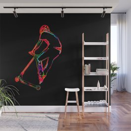 High-flying Scootering - Scooter Boy Wall Mural