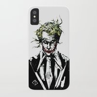 the joker iPhone & iPod Cases featuring Joker. by CJ Draden