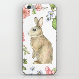 Floral Bunny iPhone Skin