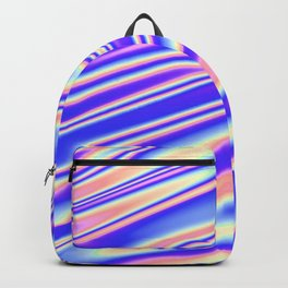 Holographic 80s Style Wave Backpack