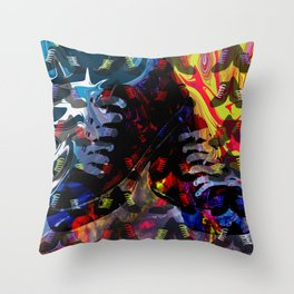 Crazy for Shoes Throw Pillow